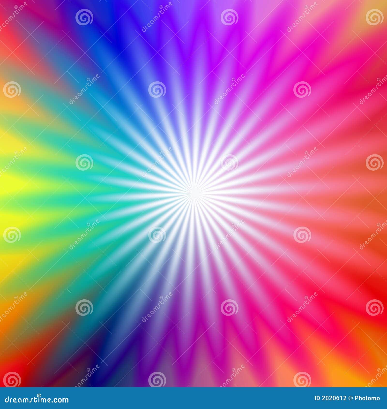 Rainbow Radial Glow Stock Photography - Image: 2020612