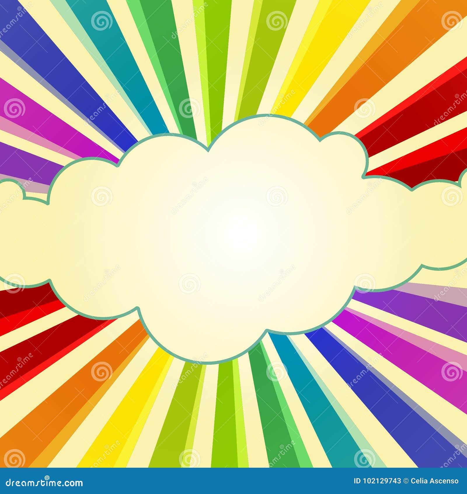 Rainbow Rays around a Cloud