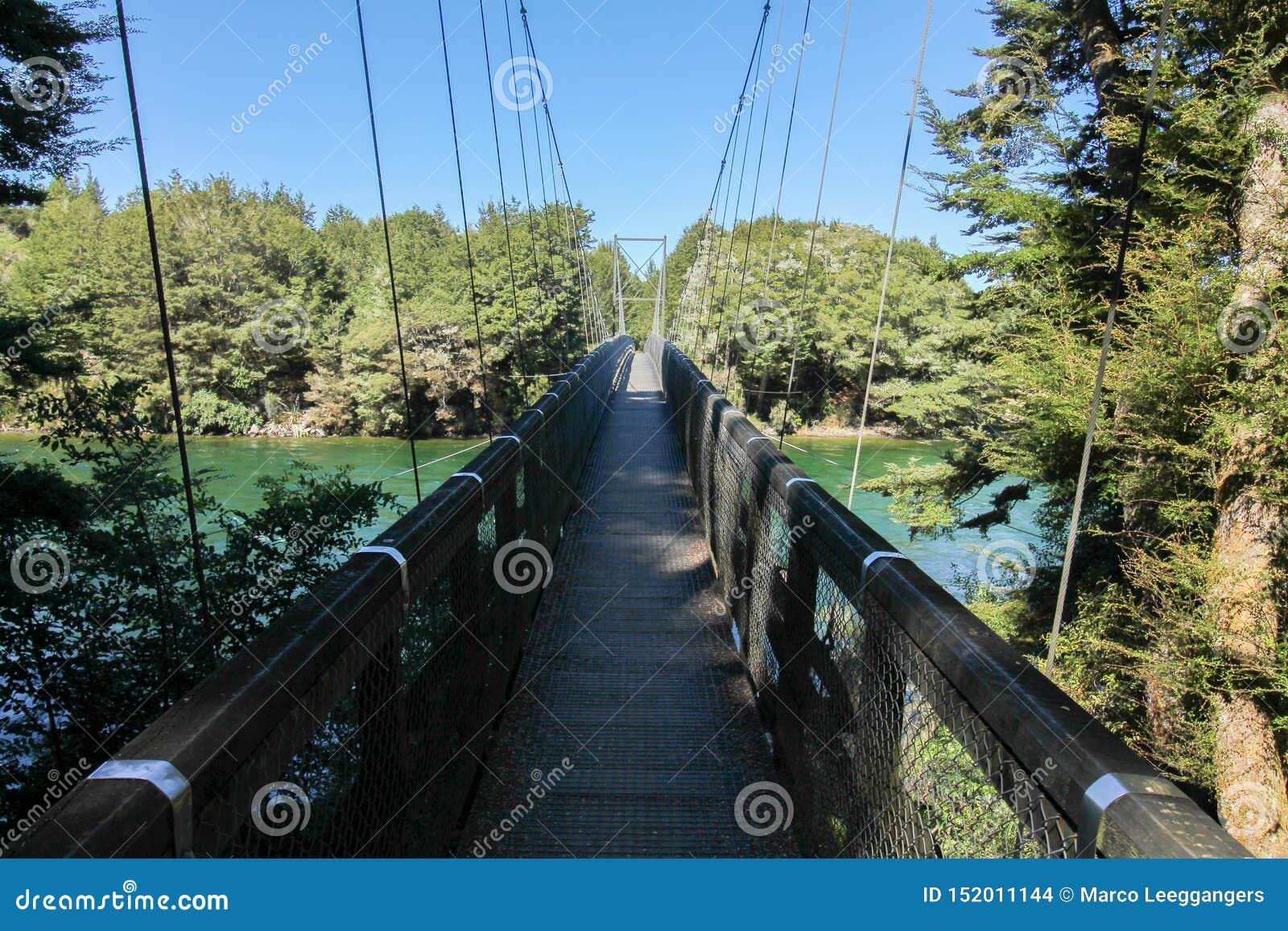 Rainbow Reach Kepler track Bridge over the Waiau River clean sky