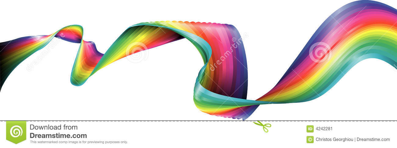how to draw a flowing ribbon