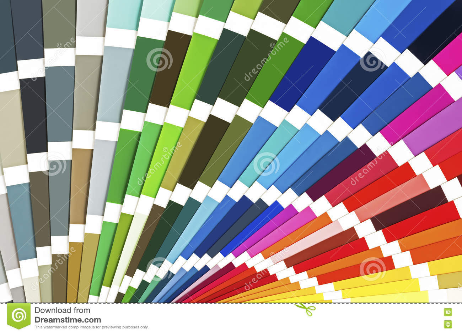rainbow sample colors catalogue color guide palette background