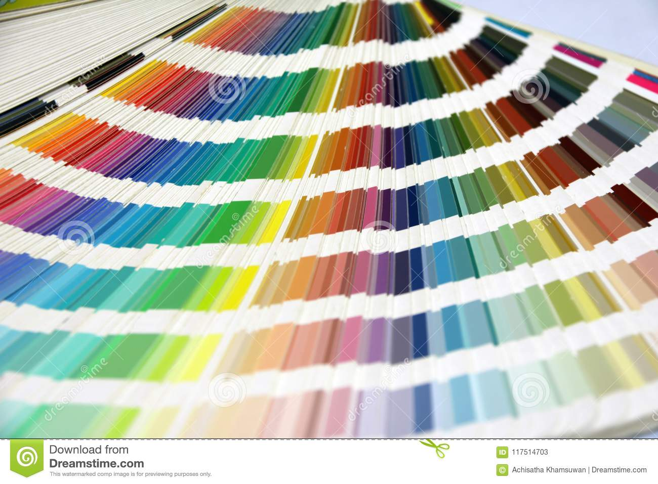 Rainbow Sample Colors Palette Catalog, Color swatches book.