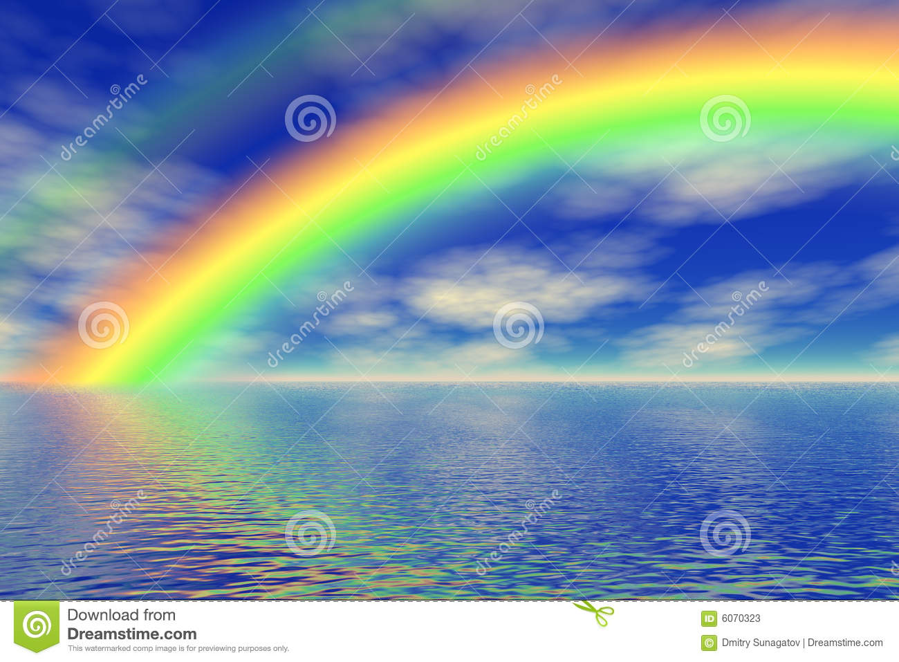 rainbow in the sea stock illustration illustration of