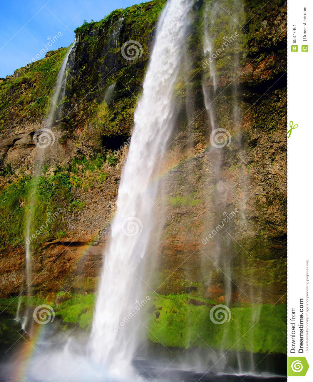 Seljalandsfoss Is A 60 Metres 200 Ft High Waterfall In Iceland It Possible To Go Behind The
