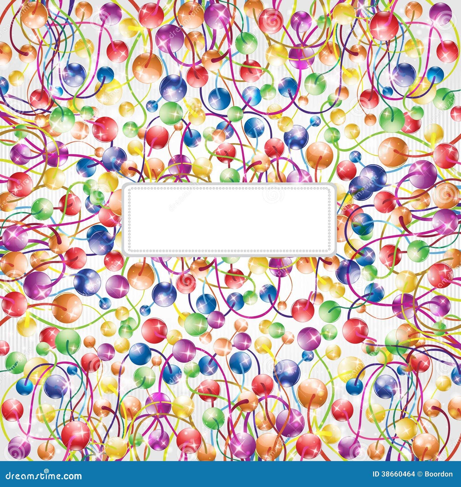 Rainbow shinny flower boll glossy background