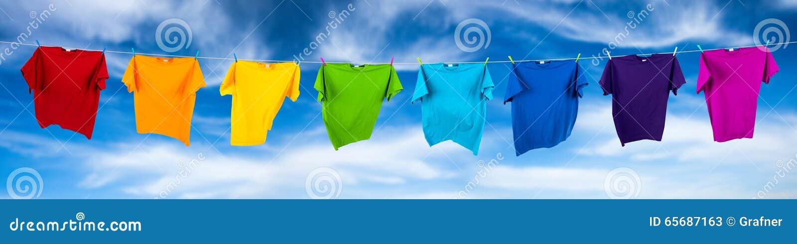 Rainbow shirts on line