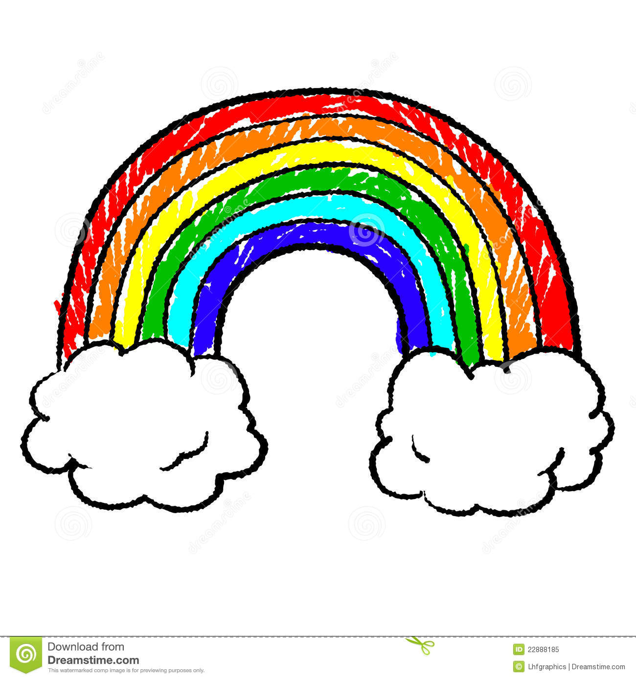 Rainbow Sketch Royalty Free Stock Photo Image 22888185