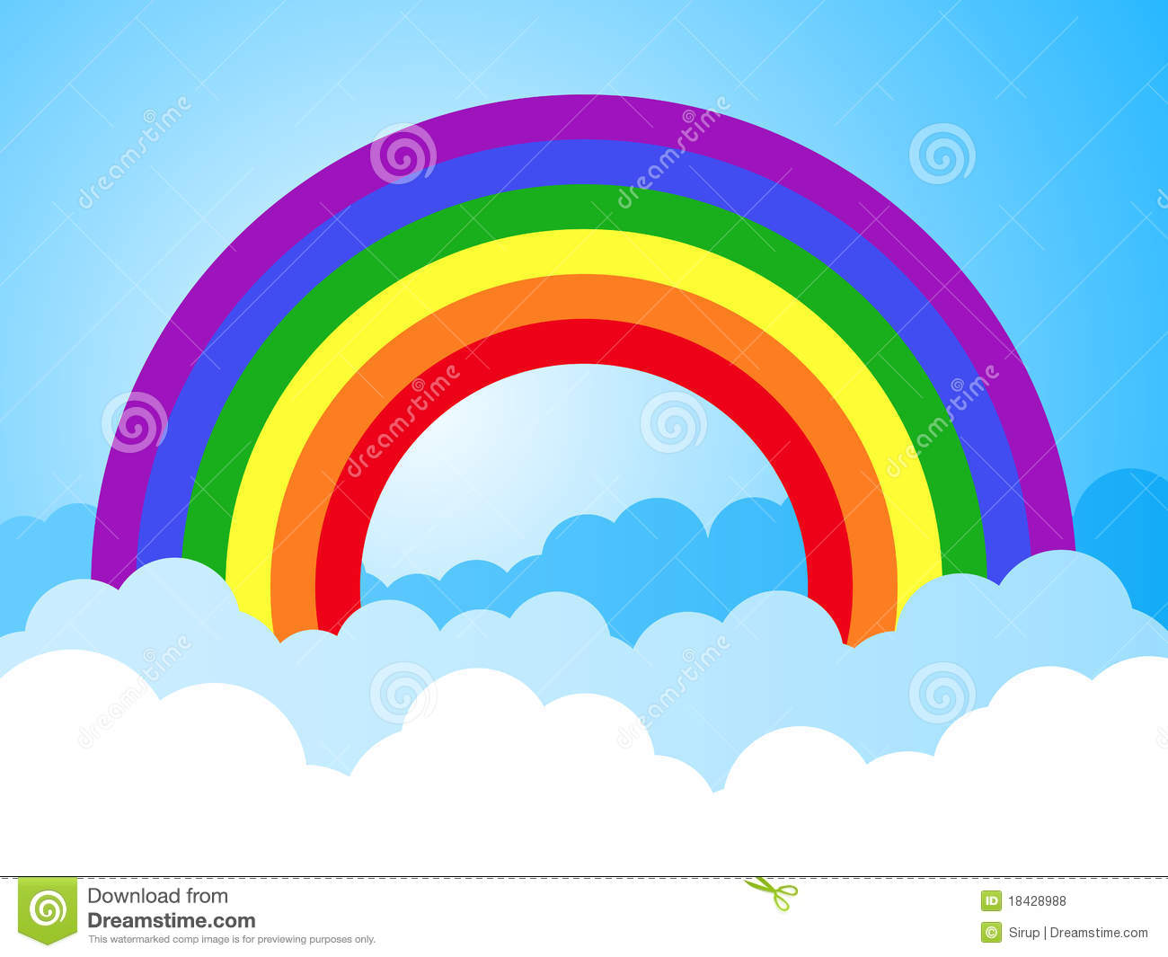 Rainbow Sky With Clouds Cartoon Background Royalty Free Stock Photos ...