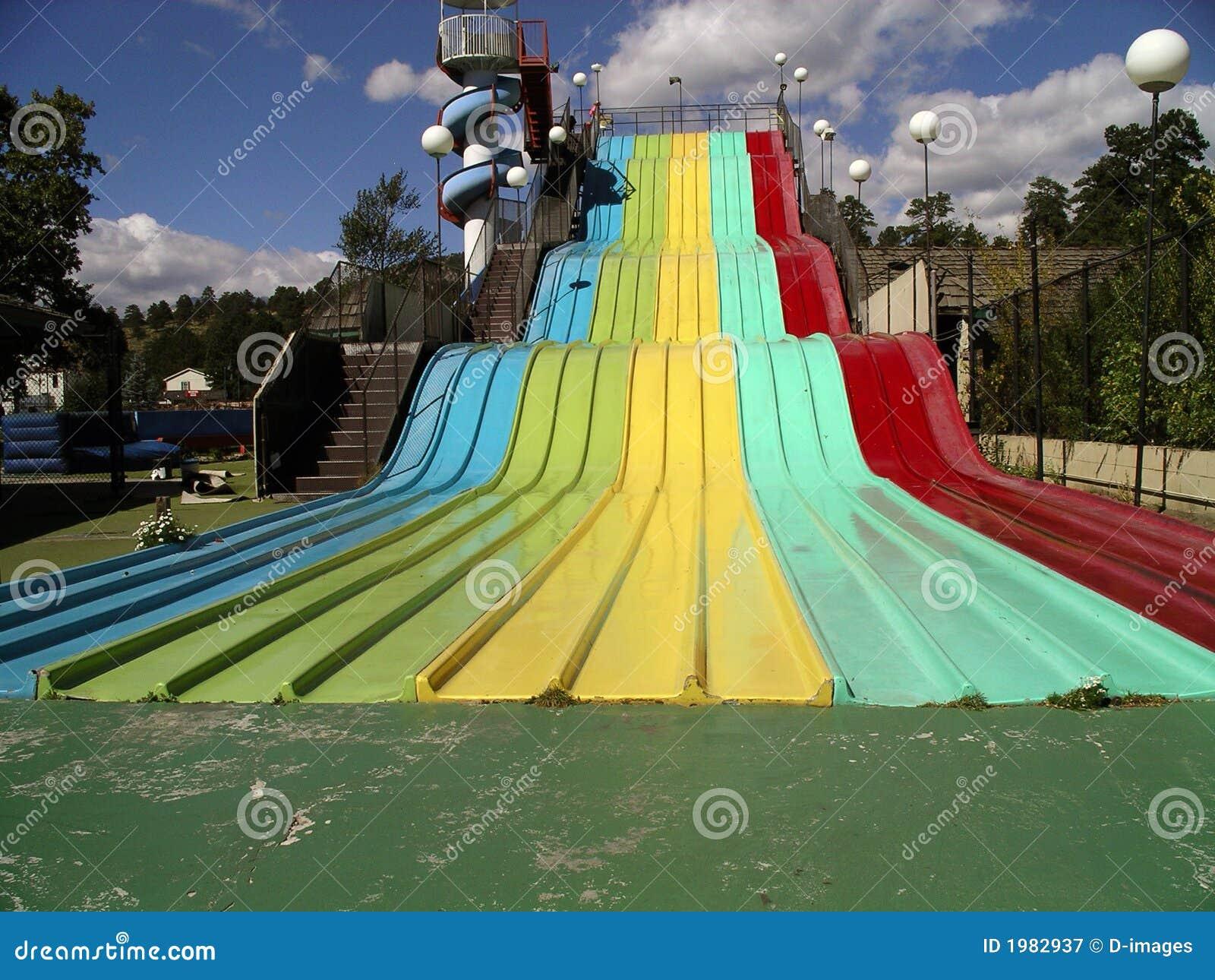 Rainbow Slide Stock Image Image Of Childhood Retro