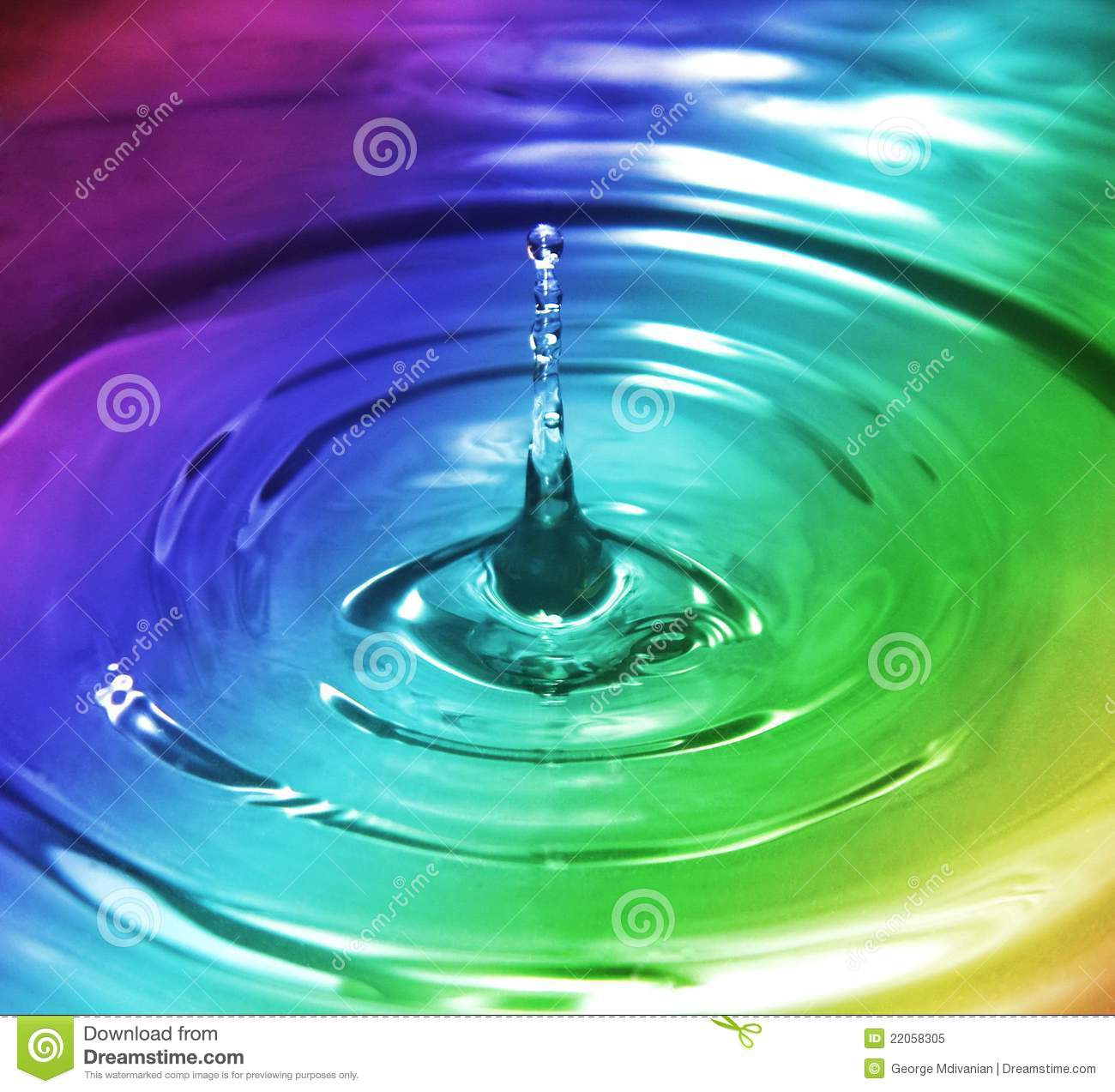 Rainbow Splash Royalty Free Stock Photo - Image: 22058305