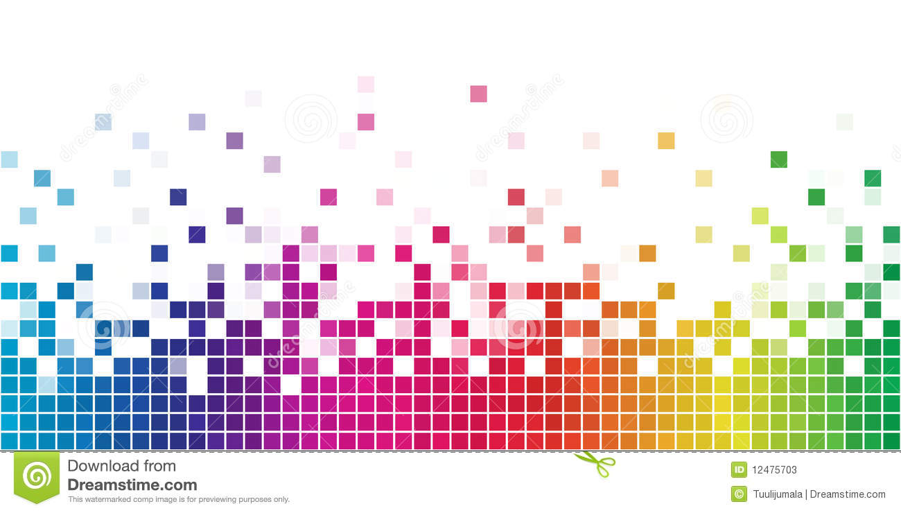 Download Rainbow square mosaic stock vector. Illustration of pixel - 12475703