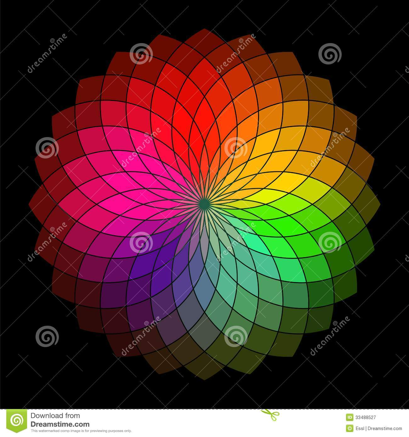 Rainbow Style Vector Wheel Stock Vector Image Of Petal