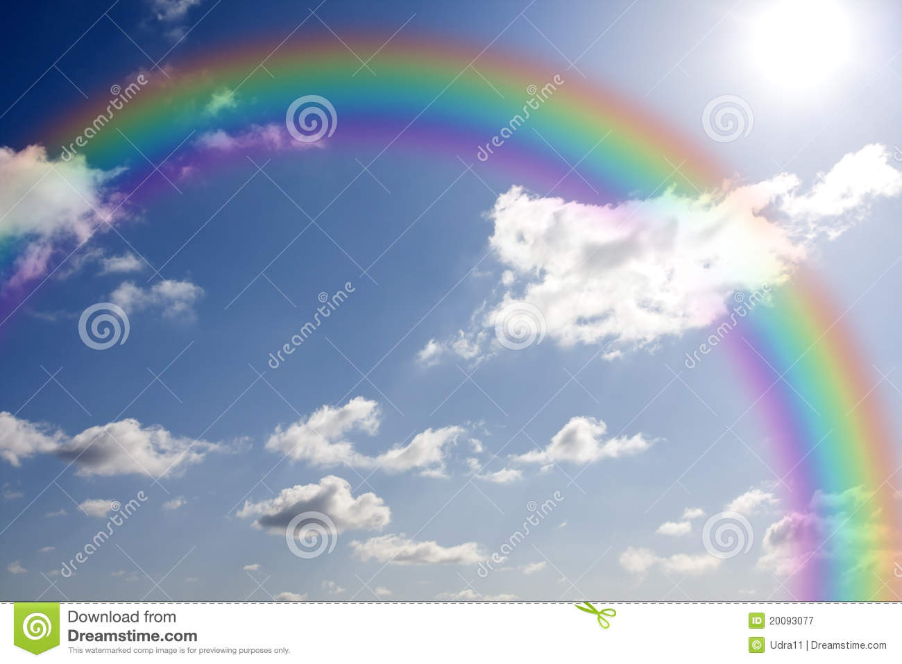 Rainbow And Sun Royalty Free Stock Photography - Image: 20093077