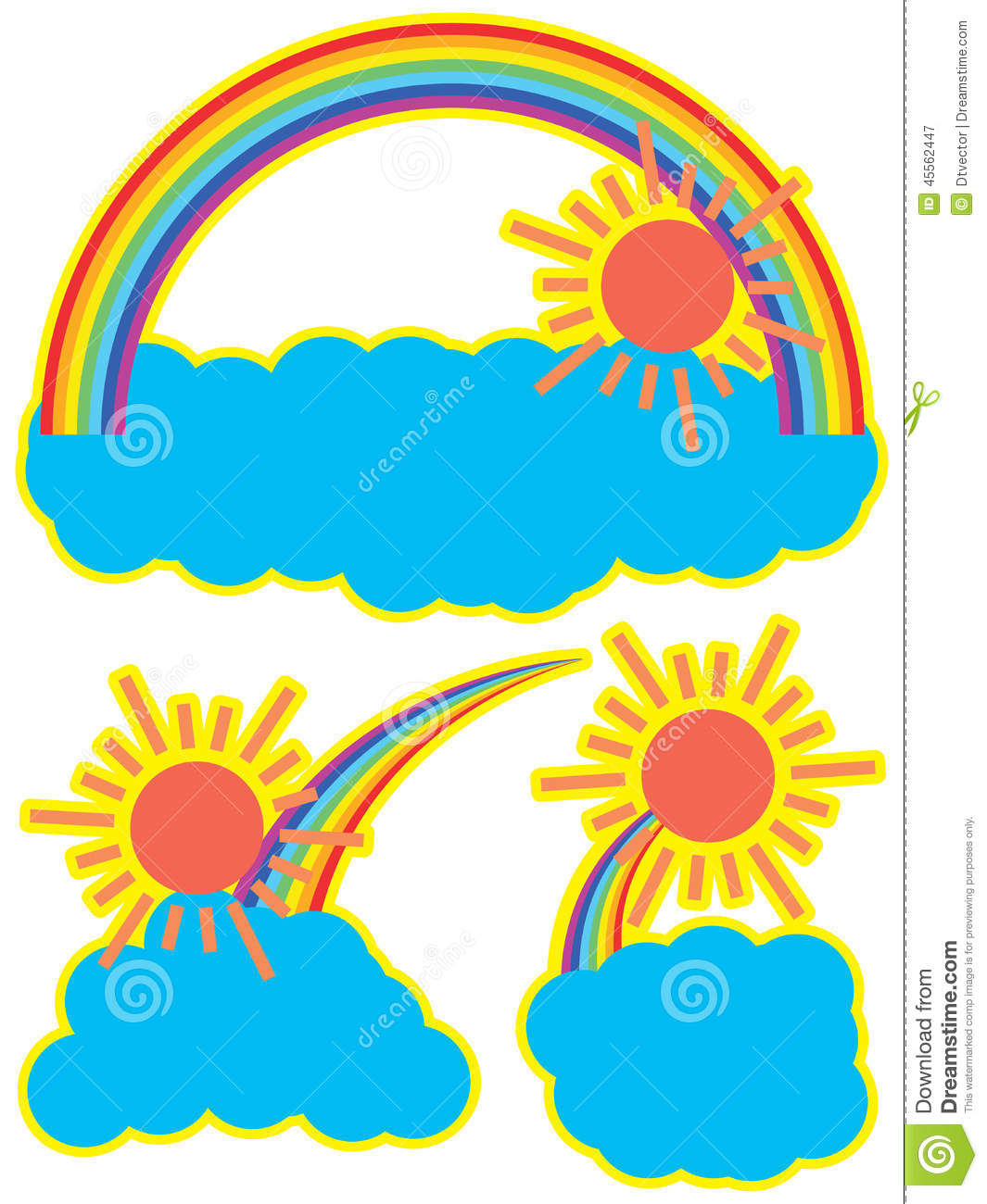Rainbow sun cloud