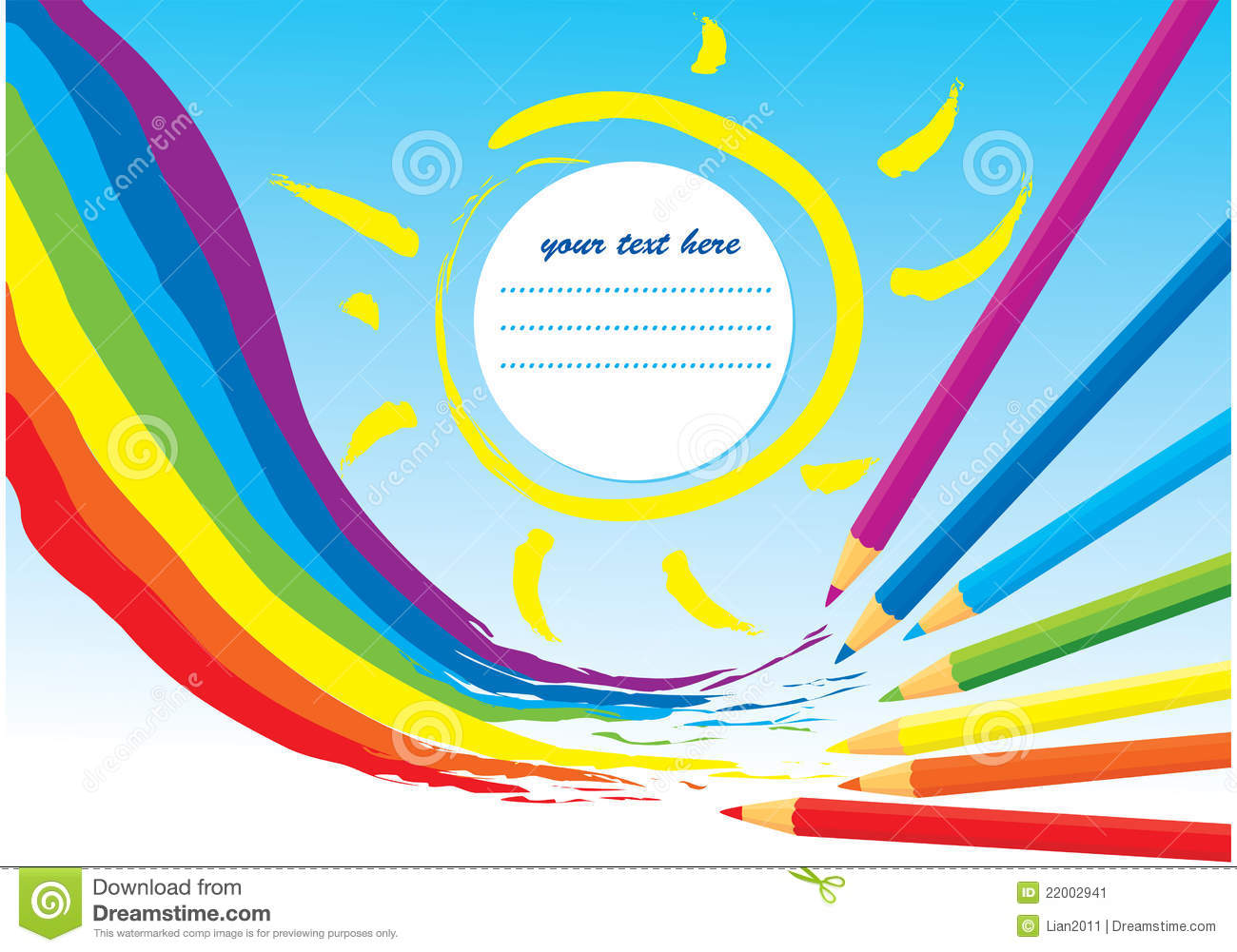 Notebook And Pen Sketch Stock Vector Art More Images Of: Rainbow, Sun And Color Pencils Stock Vector