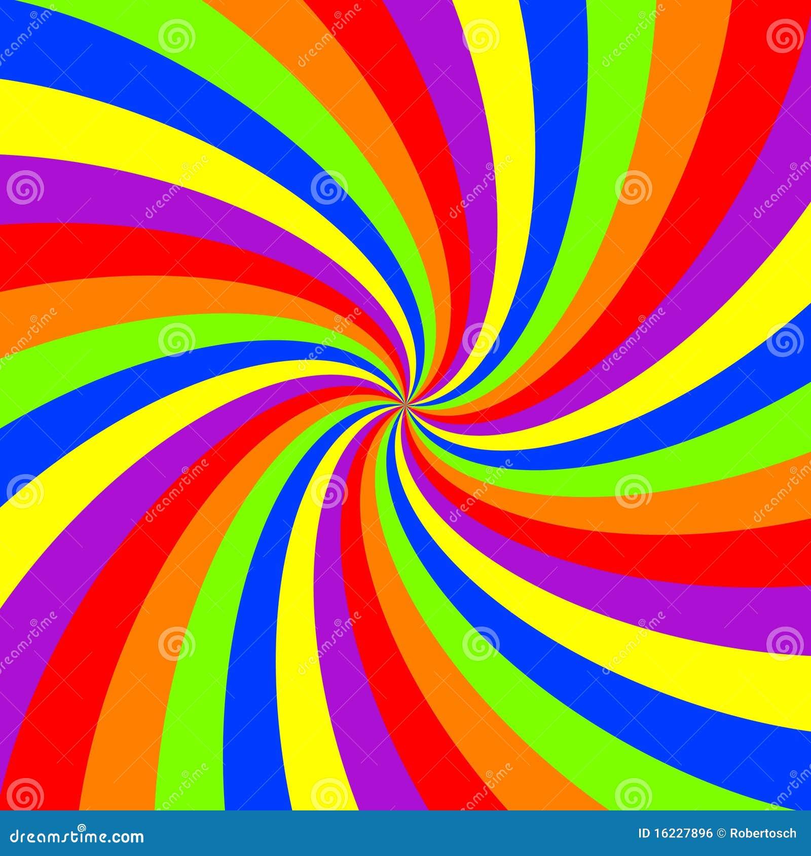 Rainbow swirl pattern