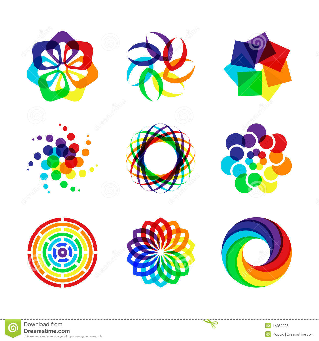Rainbow Symbols Stock Vector Image Of Icons Brand