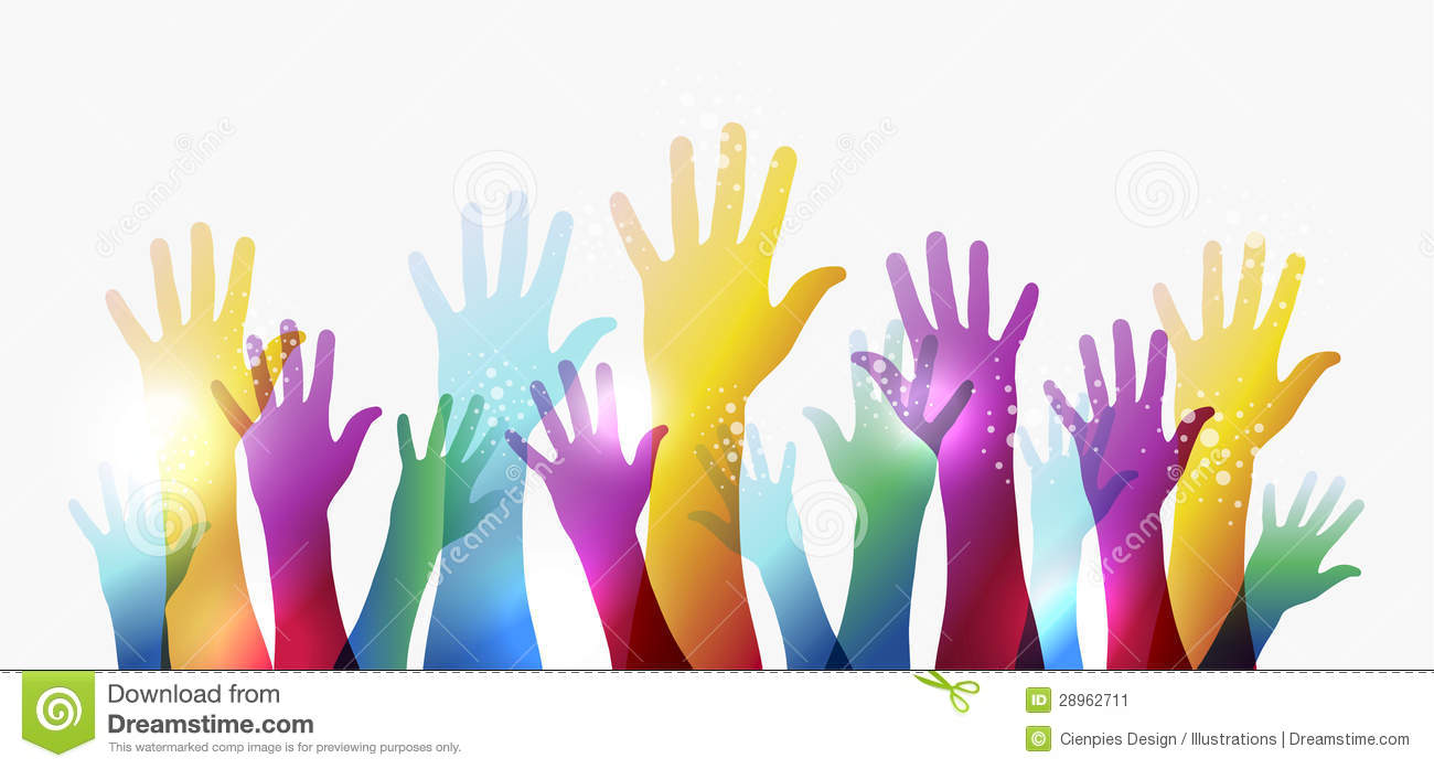 rainbow transparency hands eps10 stock image image 28962711