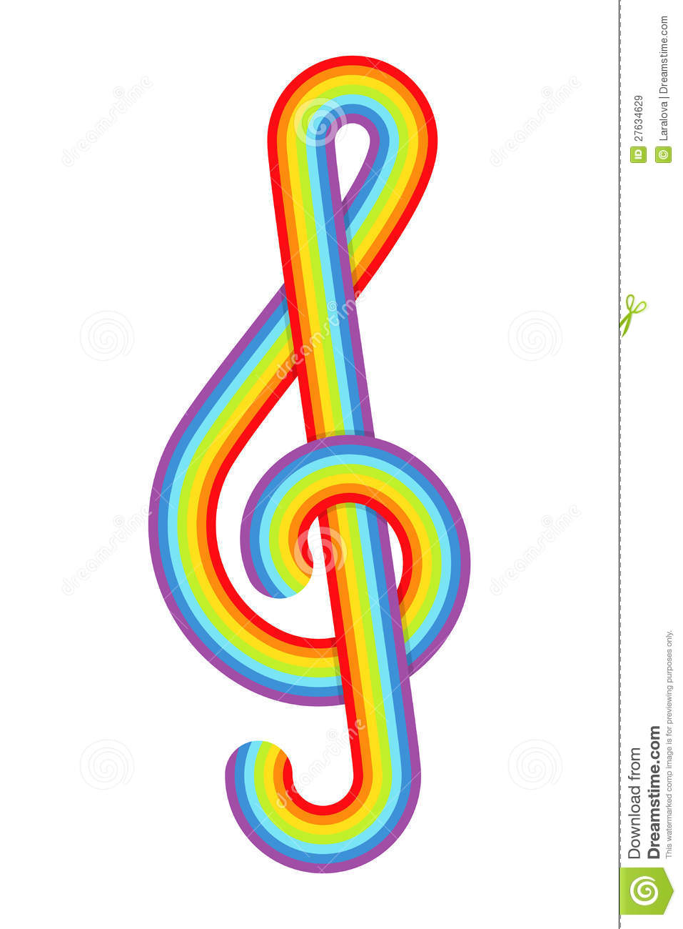 rainbow treble clef stock vector  image of abstract
