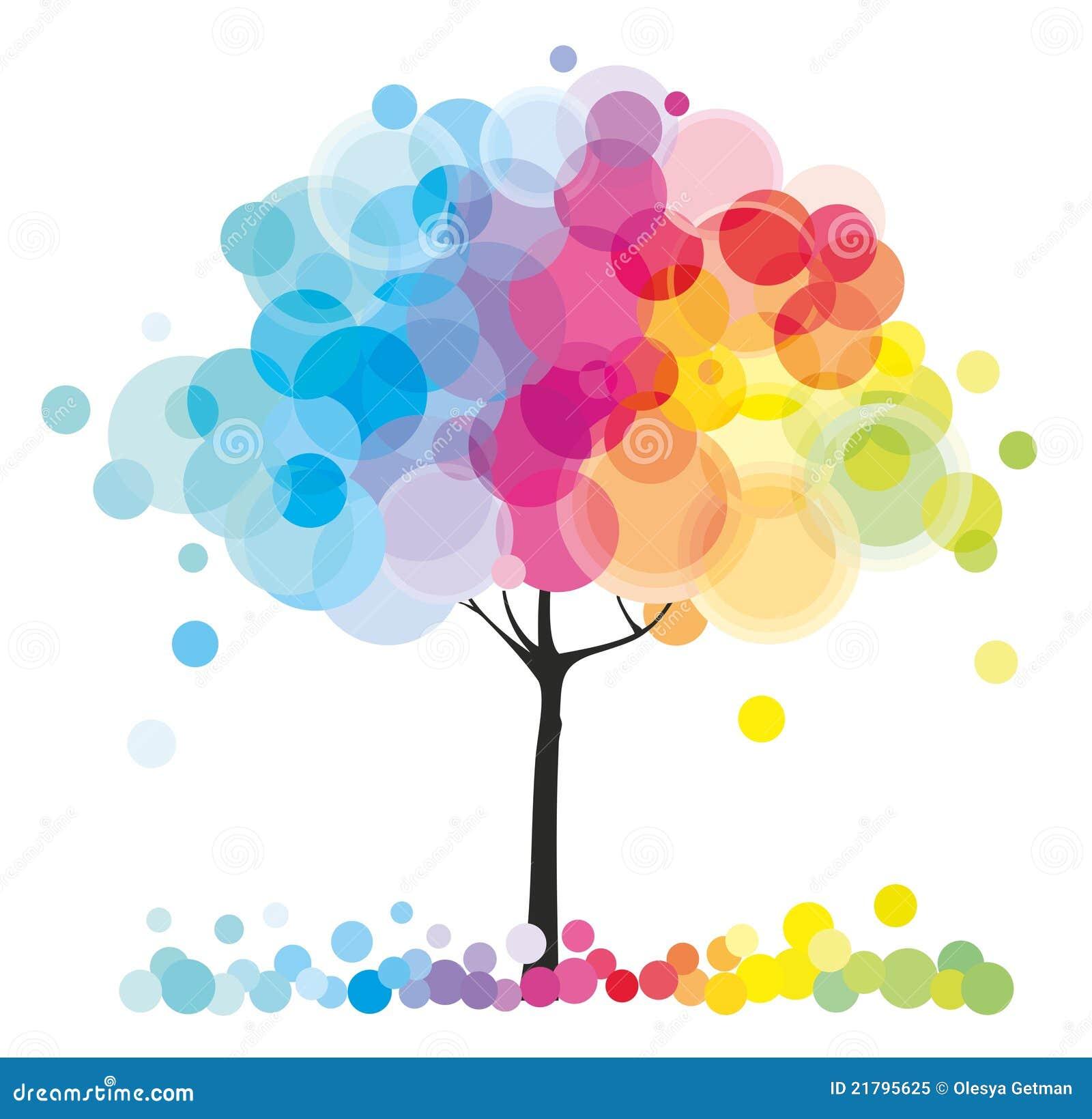 The Rainbow Tree Royalty Free Stock Photo - Image: 21795625
