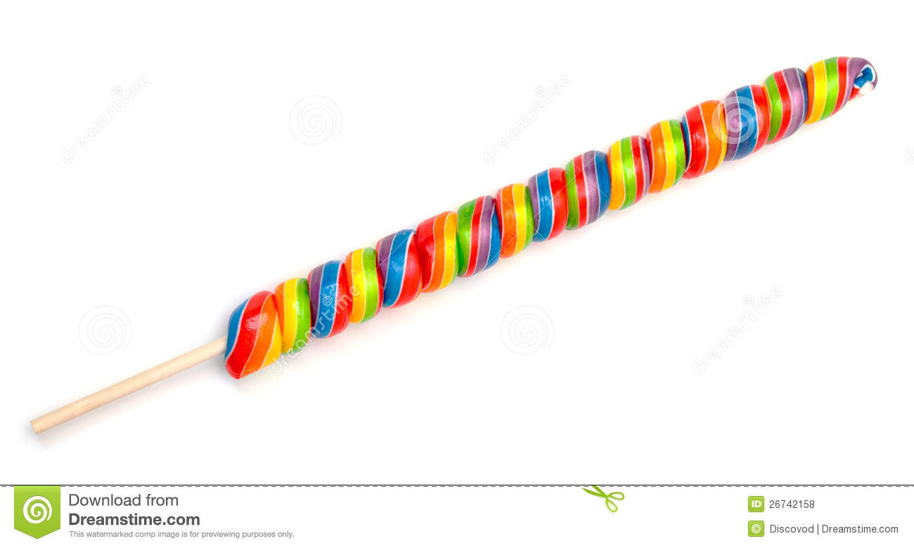 Rainbow Twirl Lollipop Candies Royalty Free Stock Photos - Image ...