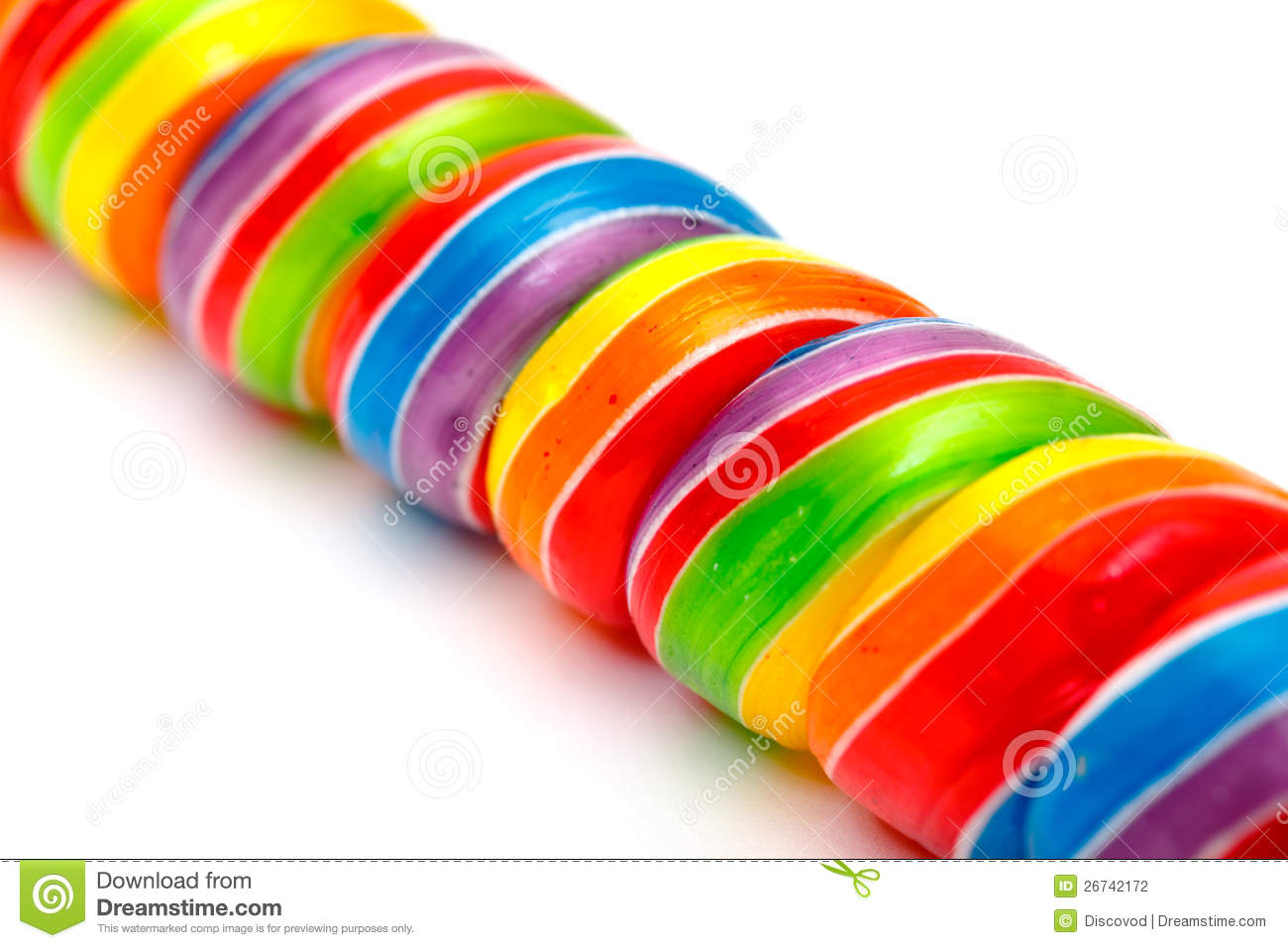 Rainbow Twirl Lollipop Candies Stock Photography - Image: 26742172