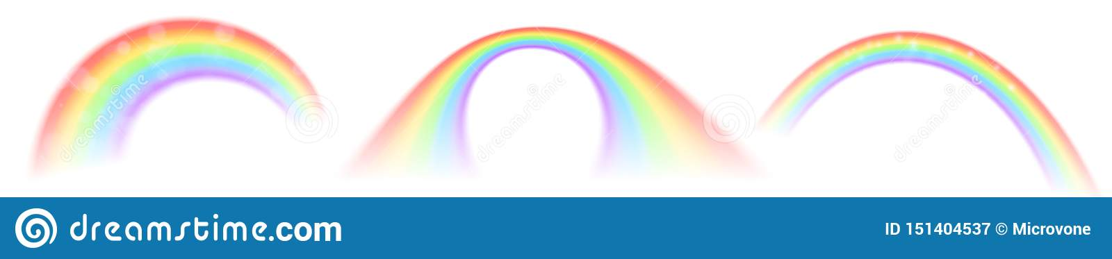 Rainbow vector icons isolated on white background