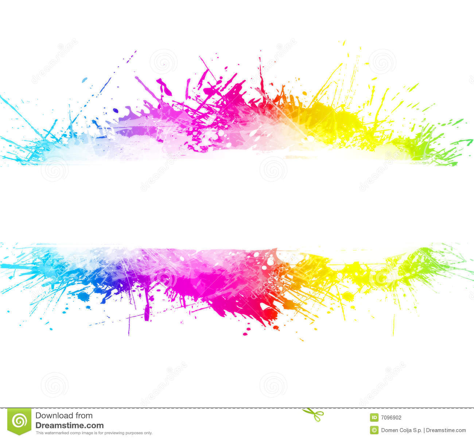 rainbow washed watercolor splatter background stock Clip Art Transparent Pool Transparent Background Color