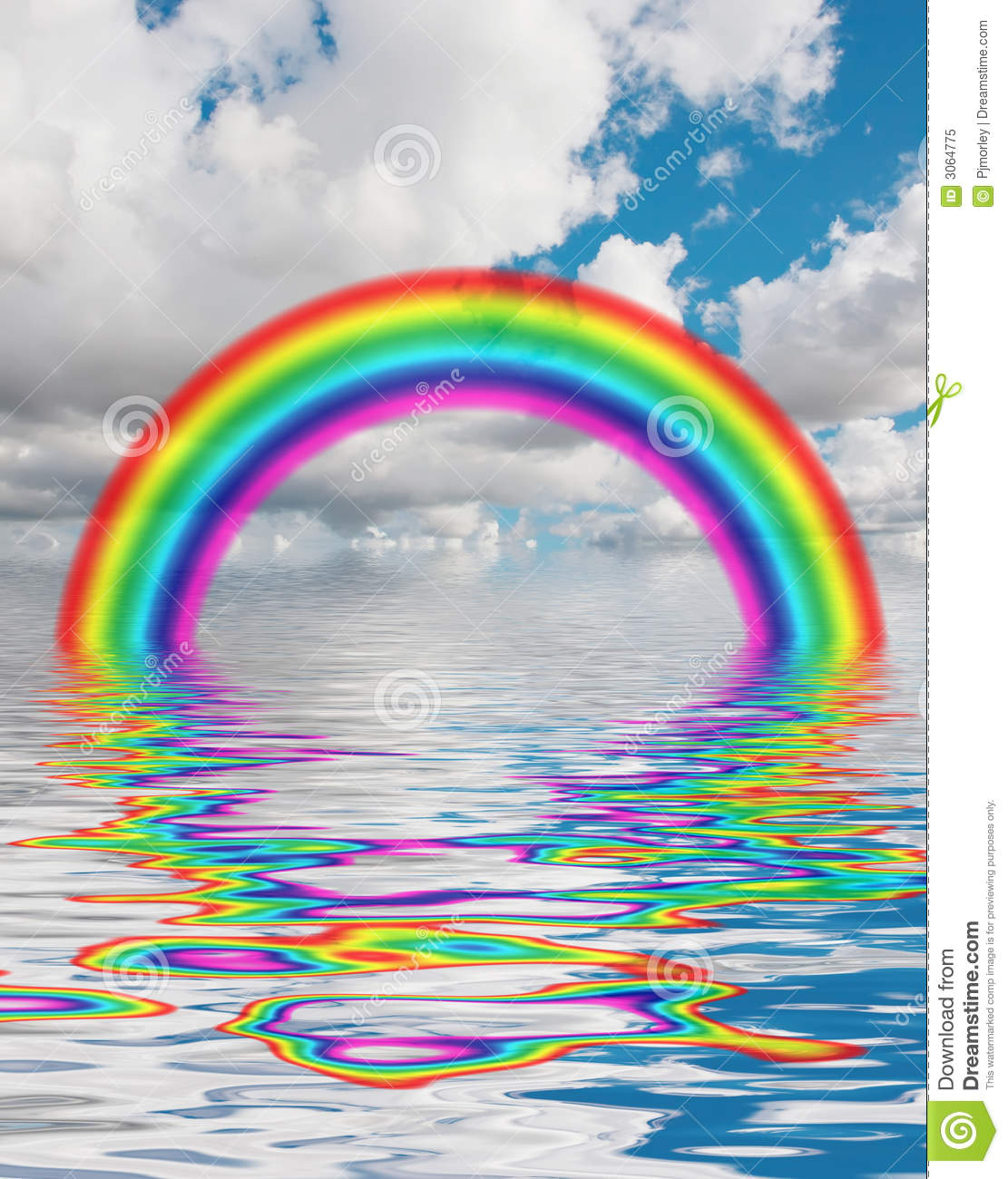 Rainbow In Water Royalty Free Stock Photo - Image: 3064775
