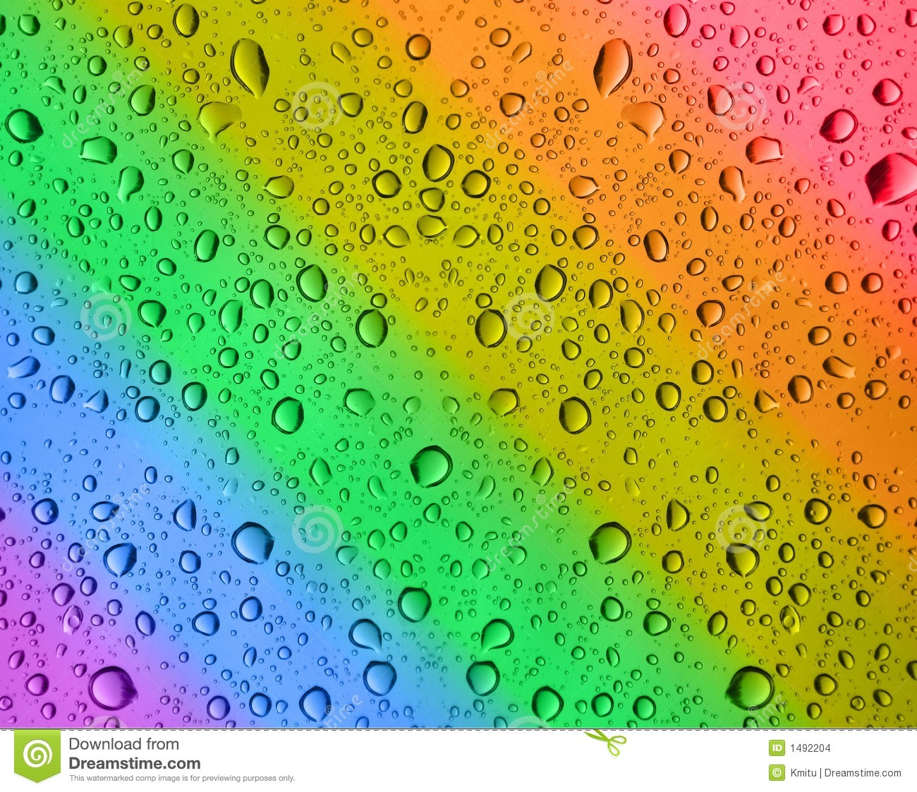 rainbow water drops stock images