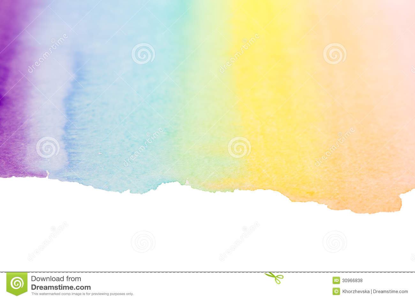 rainbow watercolor art background stock illustration illustration