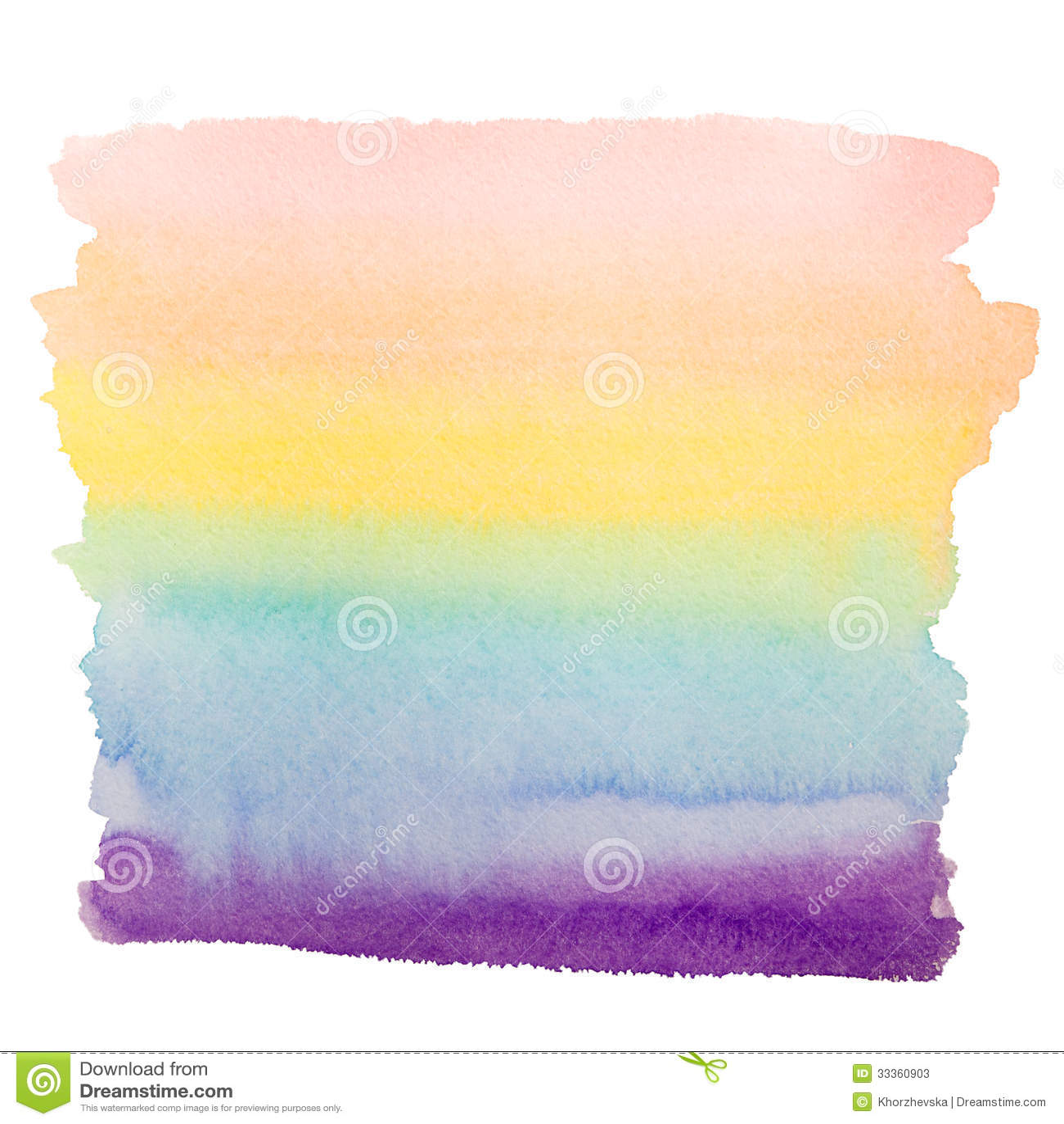 Rainbow Watercolor Art Background Stock Image Image Of