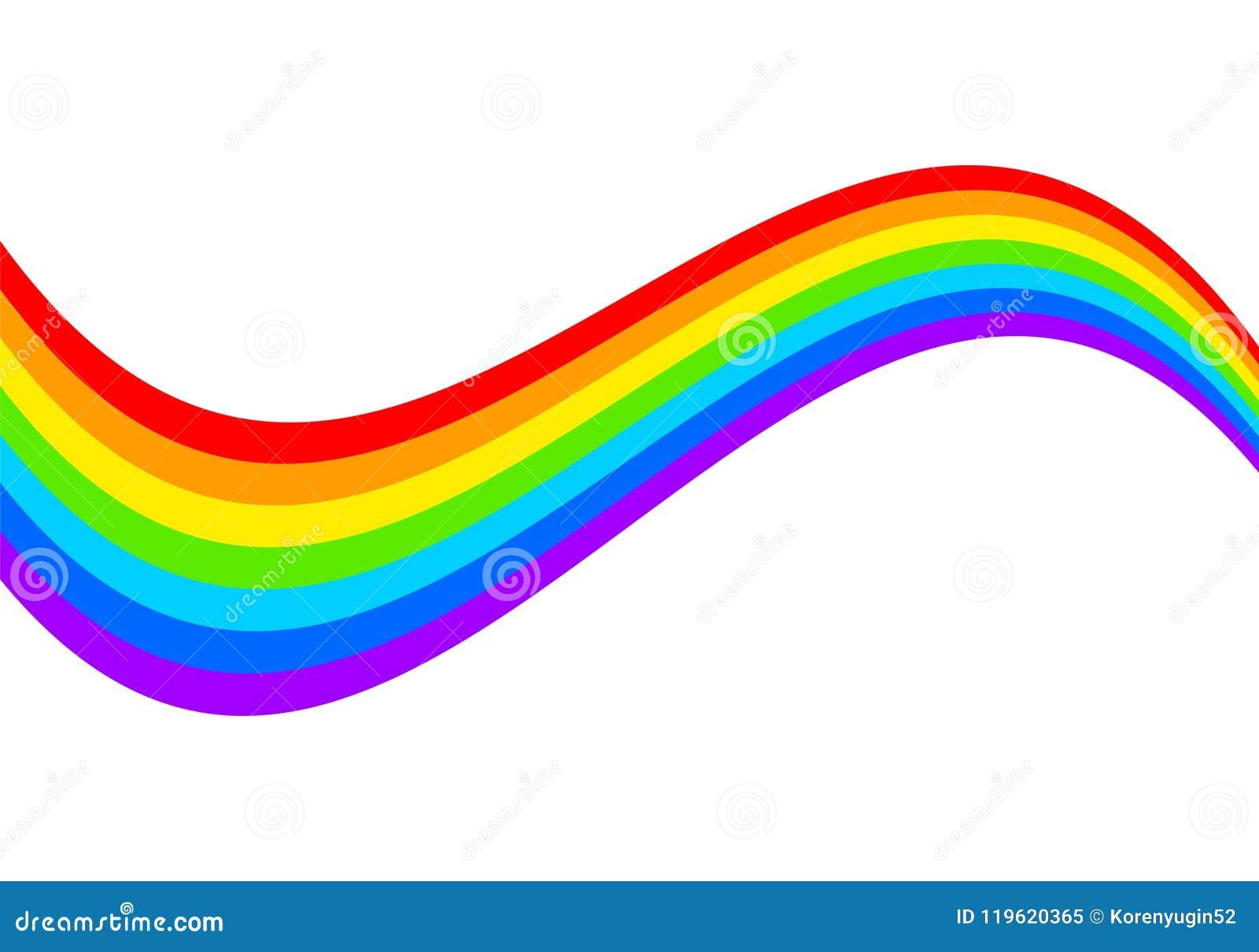 Rainbow on white background