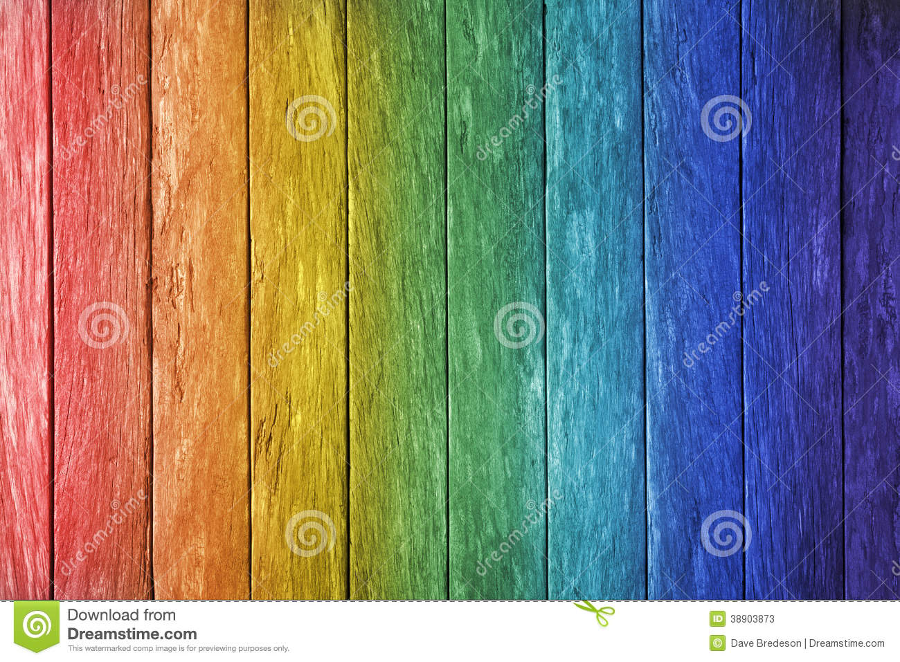 Rainbow Wood Background Stock Photo Image 38903873