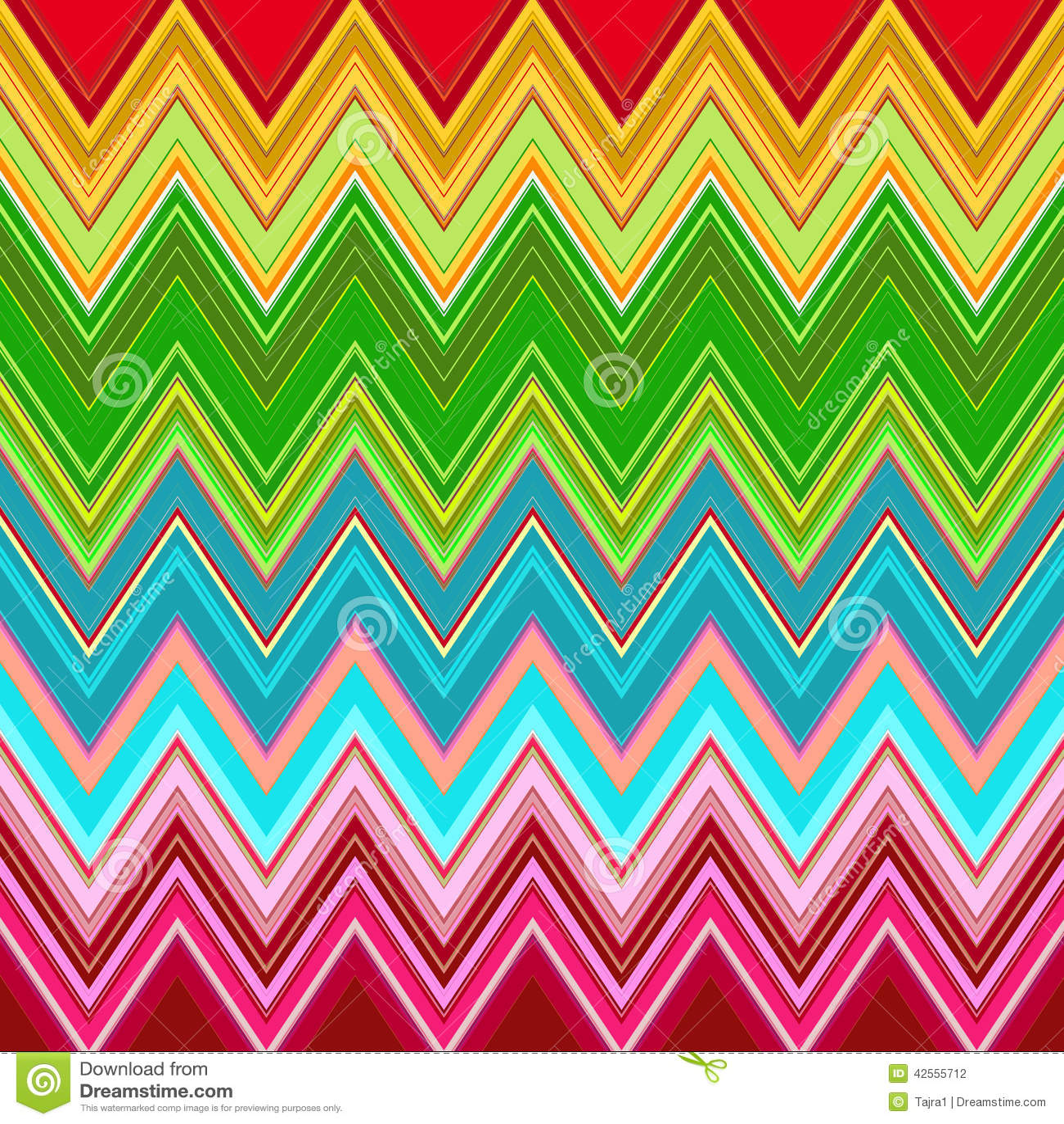 rainbow zig zag pattern stock illustration image of repeat 42555712. Black Bedroom Furniture Sets. Home Design Ideas