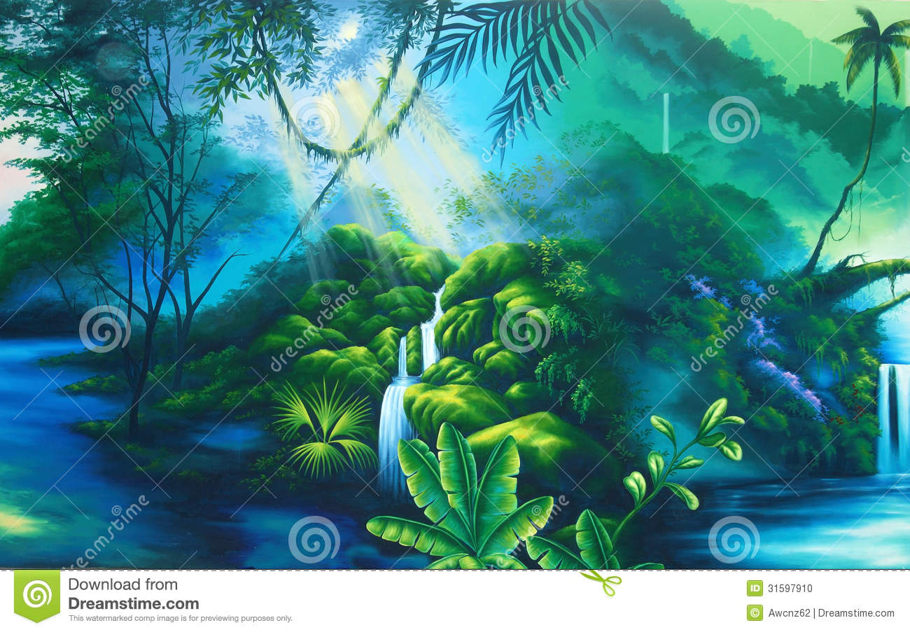 Rainforest Background Stock Photo - Image: 31597910
