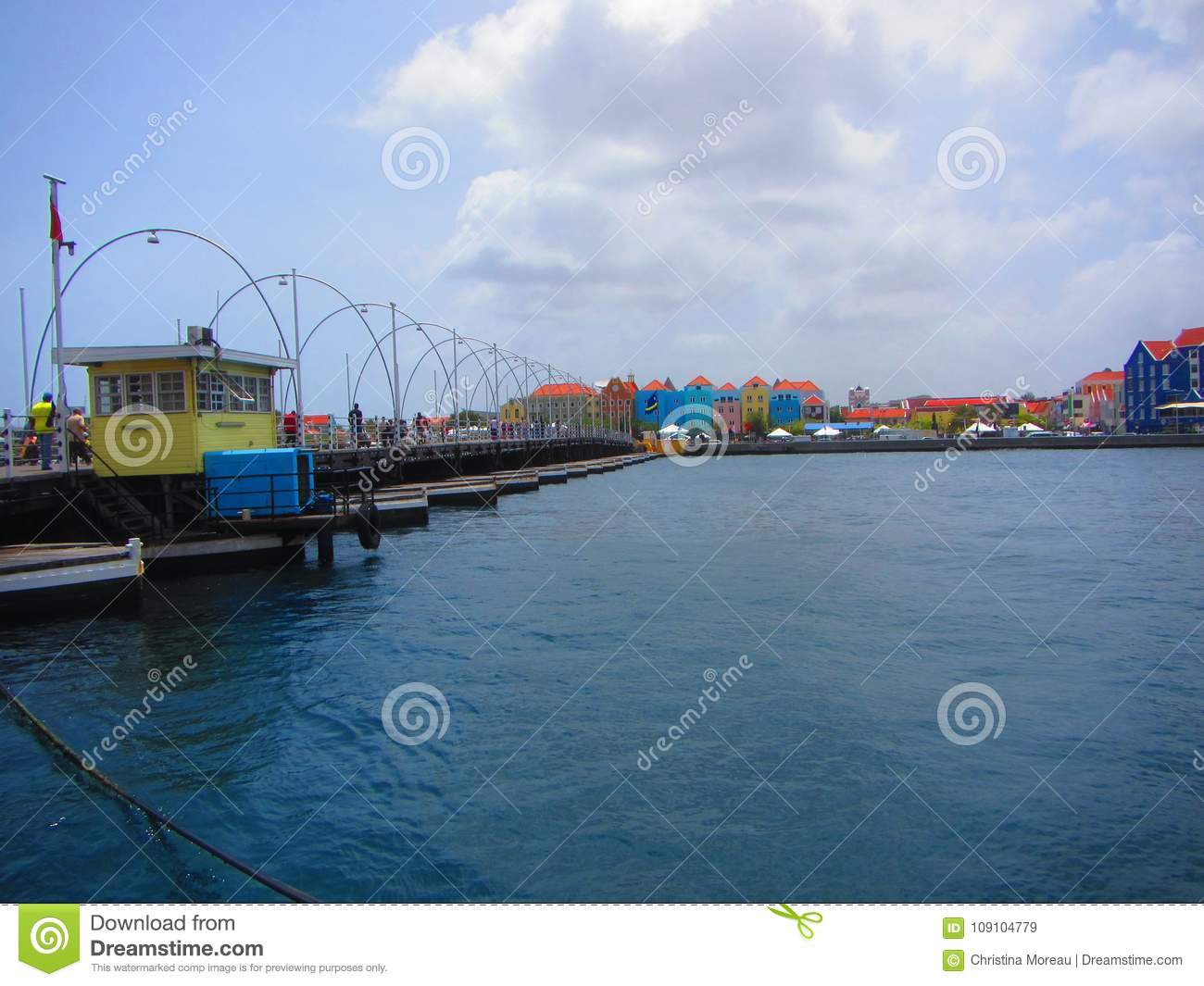 Rainha Emma Swing Bridge Willemstad Curacao