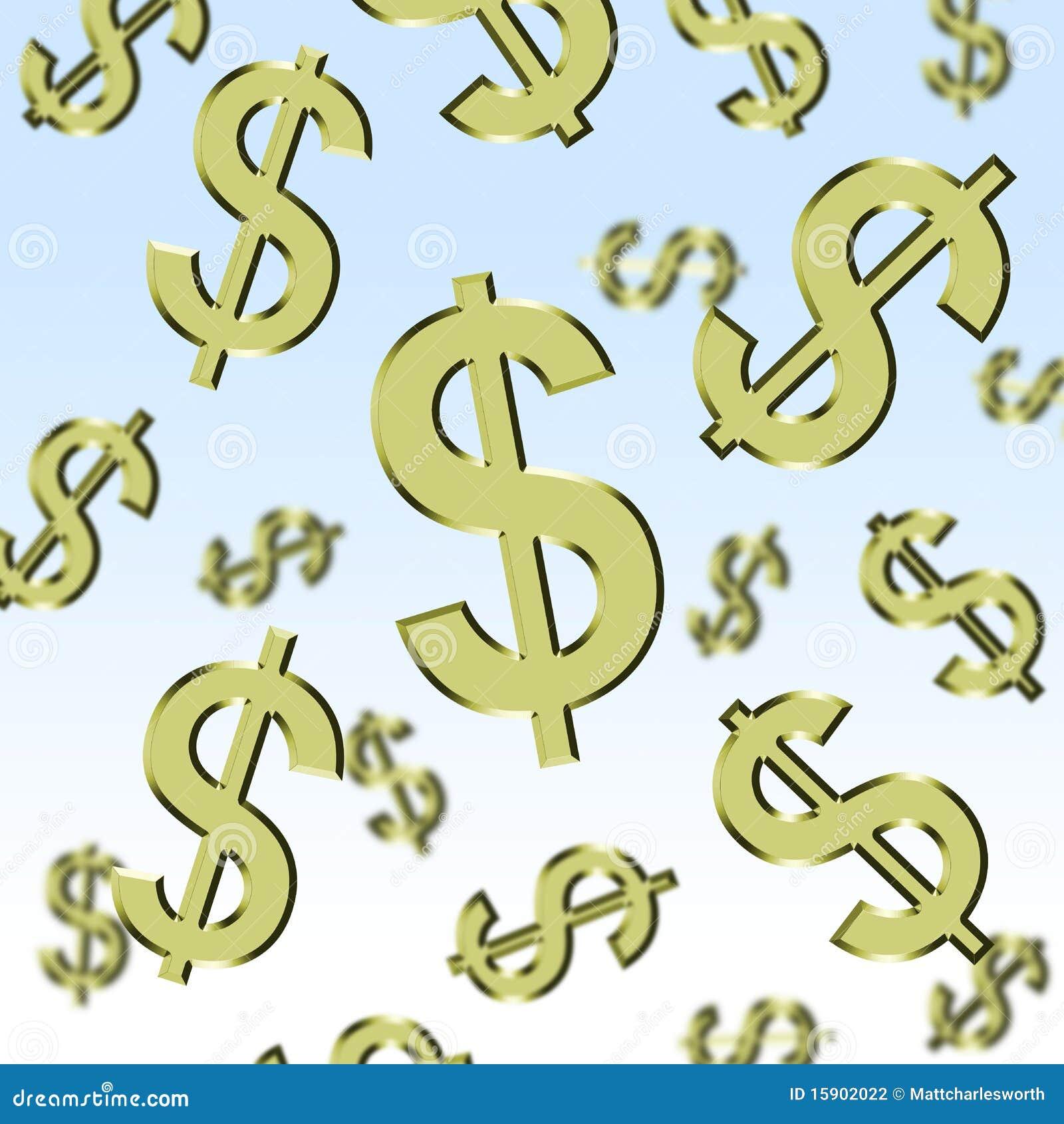 Raining Dollars stock illustration. Image of dollars ...