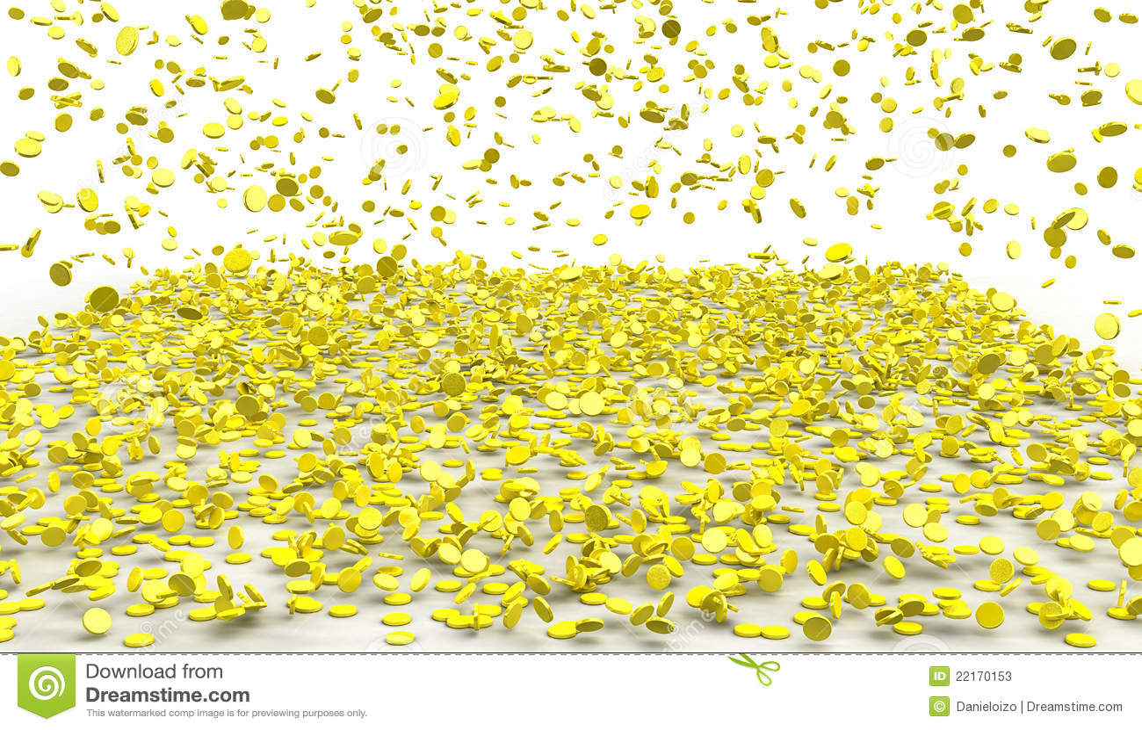 raining gold stock photos image 22170153