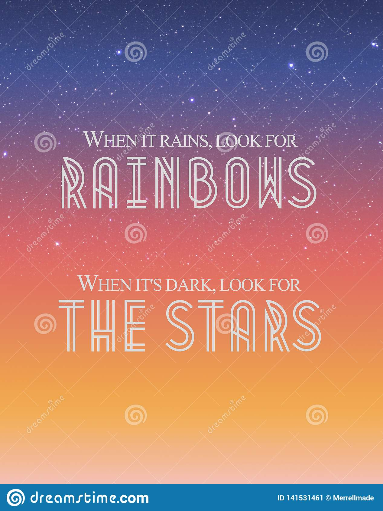 `When It Rains, Look For Rainbows`