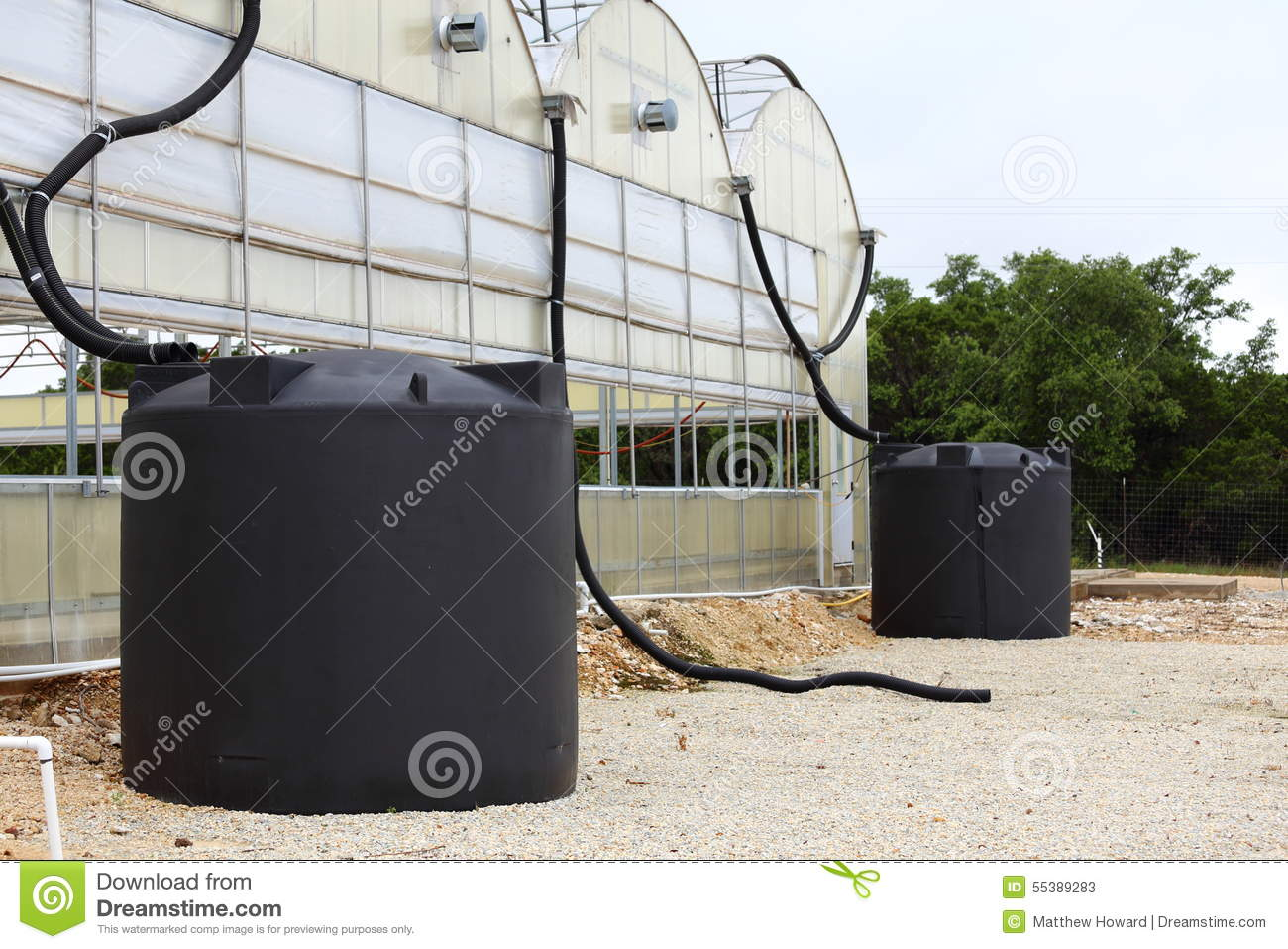 Rainwater Collection System Stock Image - Image of reservoir