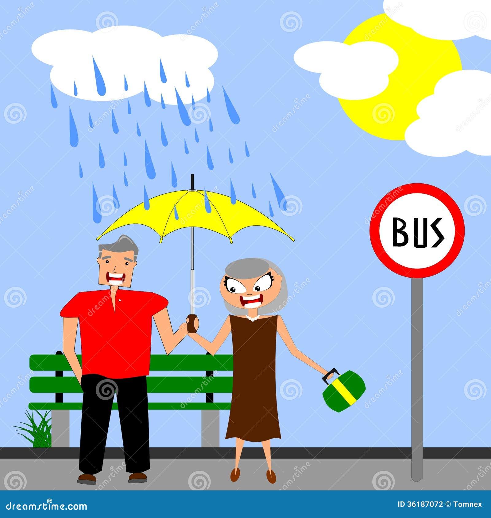 Rainy days stock vector illustration of rainy rain 36187072 - Bambini che si guardano allo specchio ...