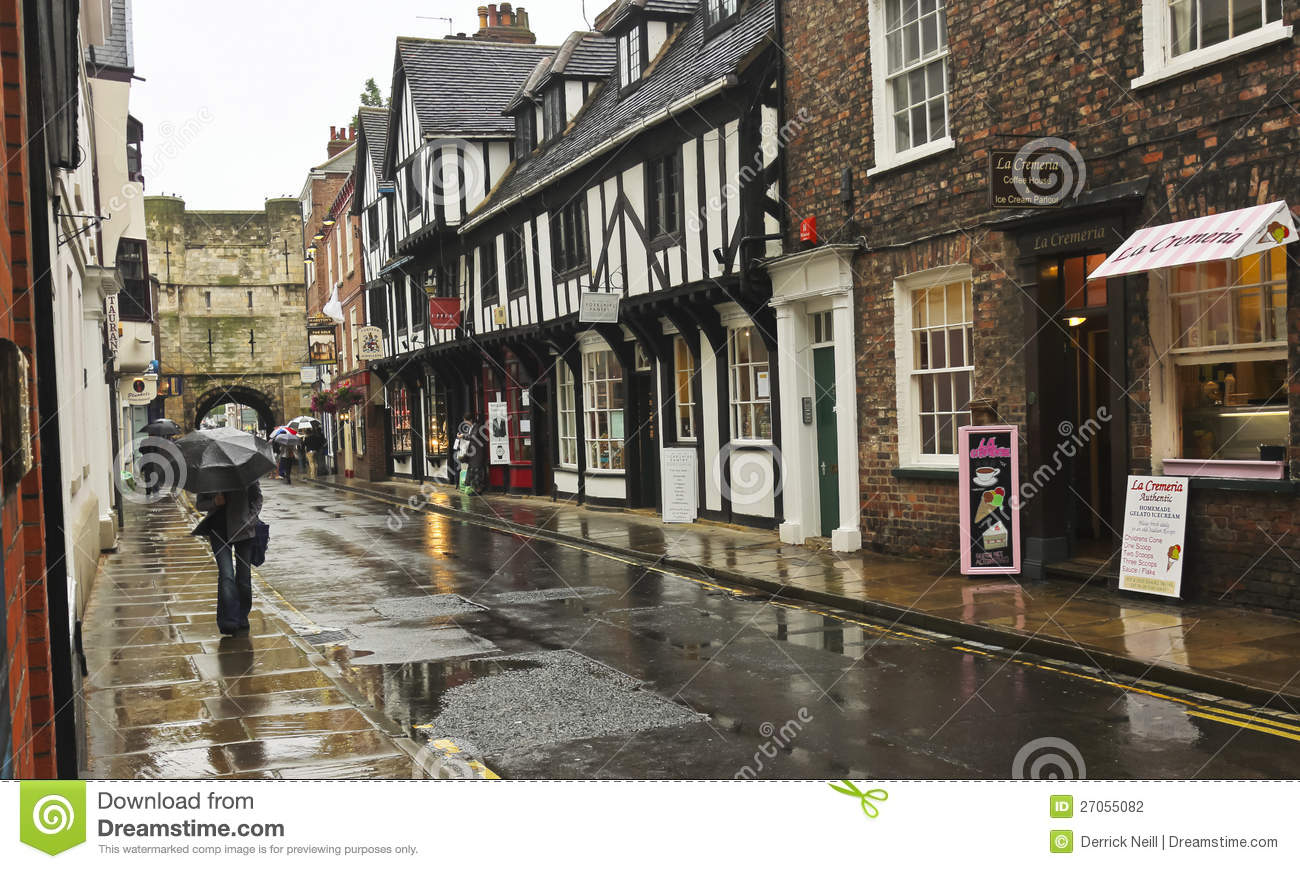 York, England - July 6: High Petergate Street on July 6, 2012, in York ...