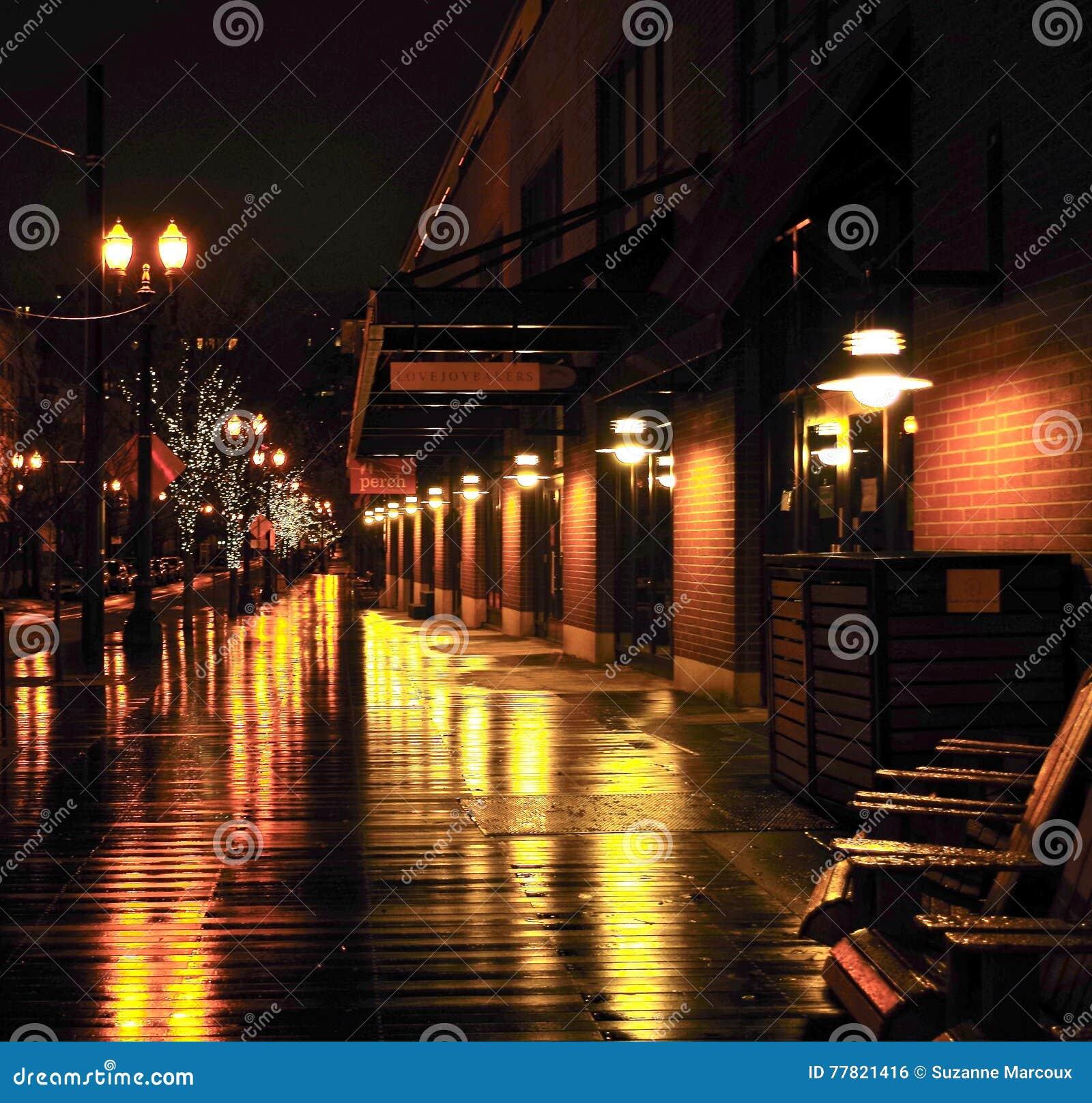 rainy night in portland oregon editorial photo image of quiet