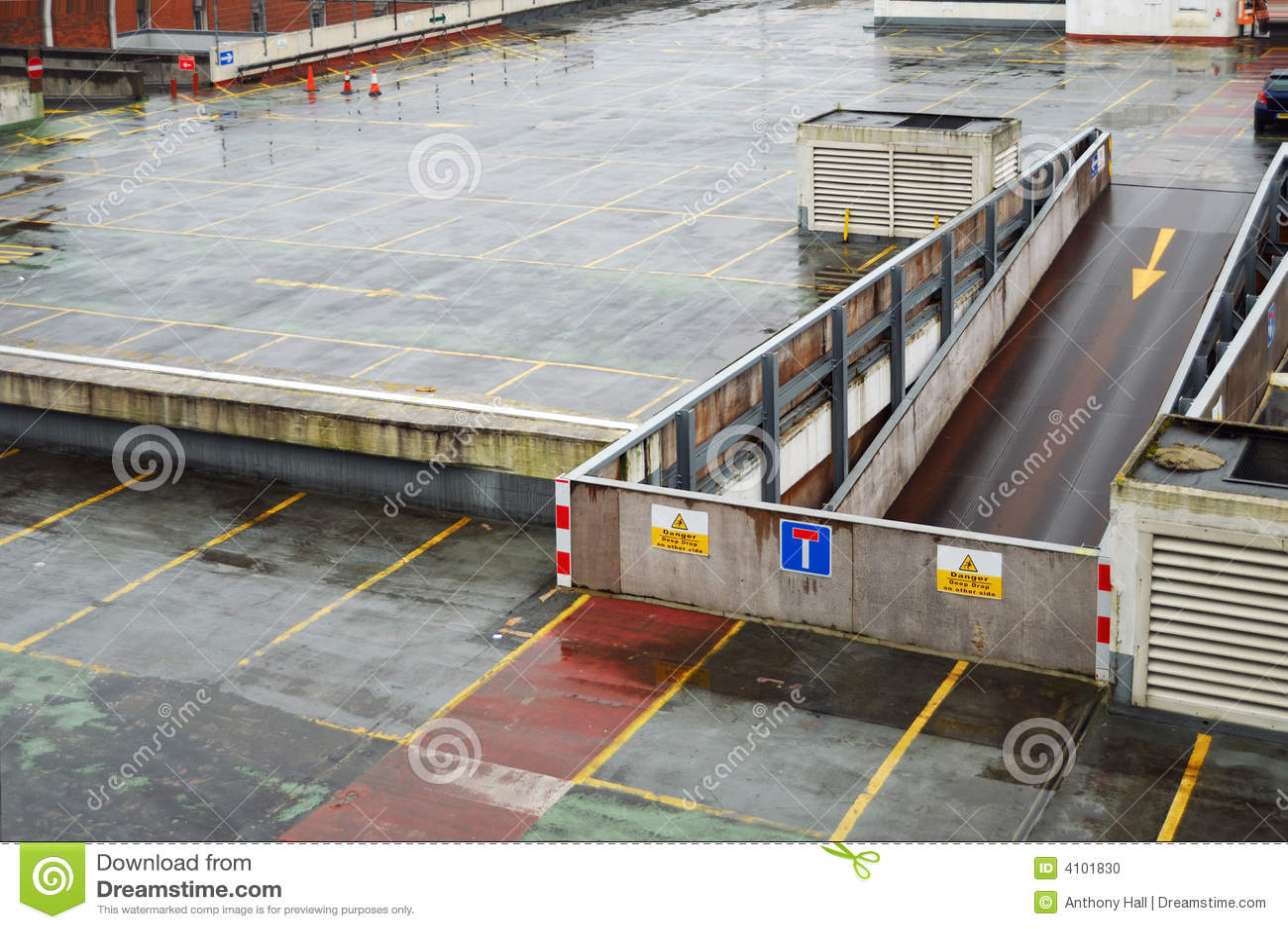 8 Car Garage Plans >> Rainy Parking Garage Roof Deck Stock Photo - Image: 4101830