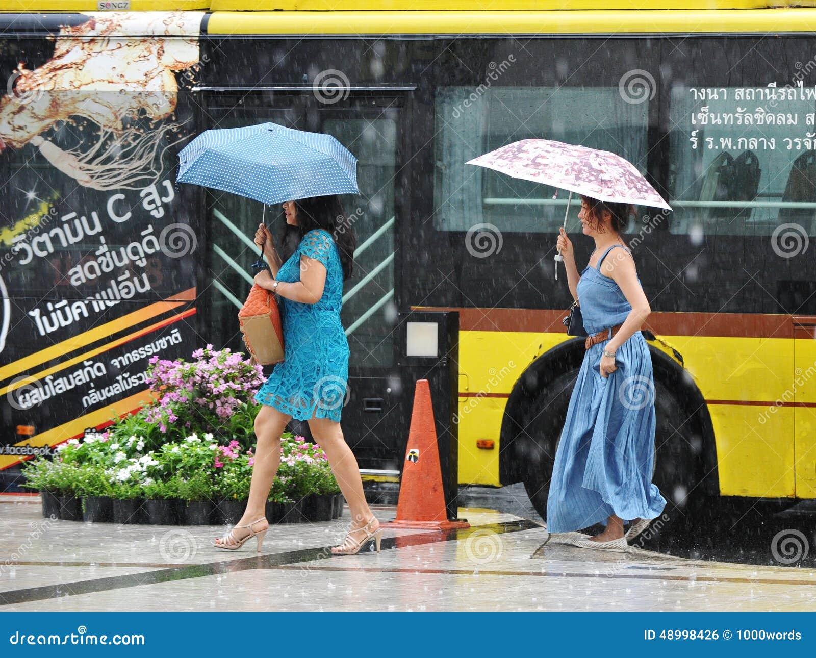 Bangkok Thailand August 2017 low season. Rainy season. # ...