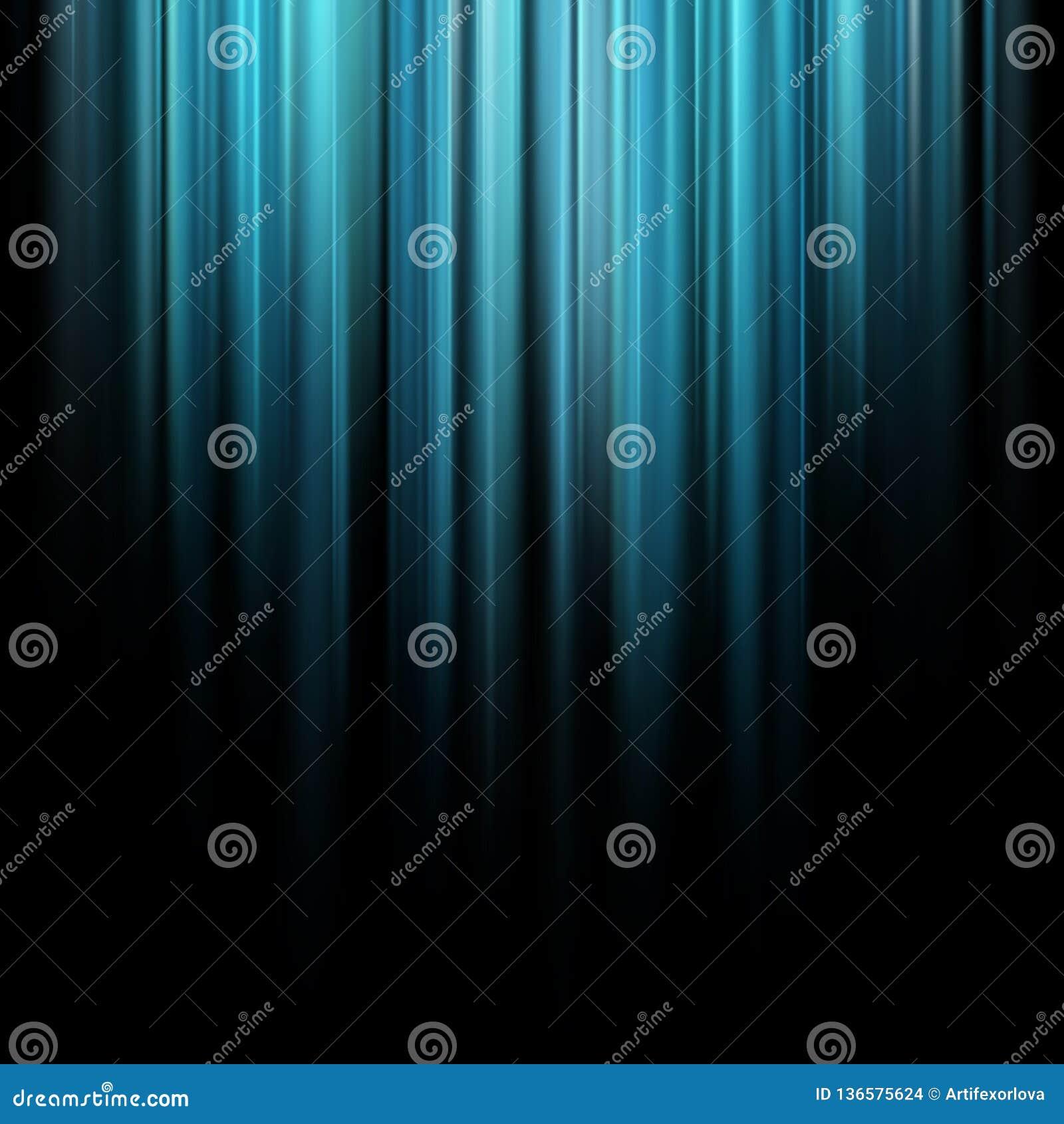 Raios claros mágicos azuis do sumário sobre o fundo escuro Eps 10