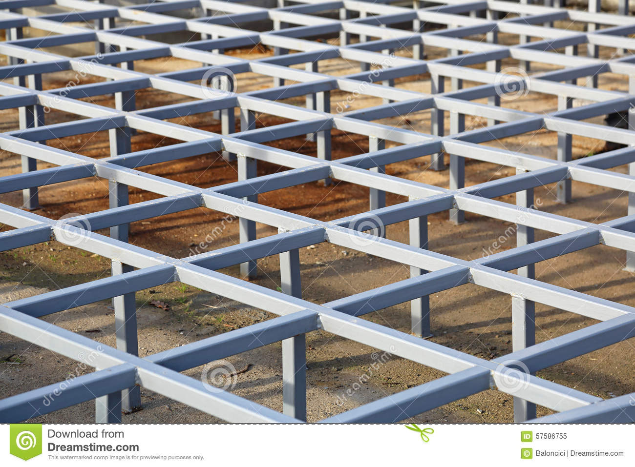 Structural Flooring Systems : Raised floor structure stock photo image