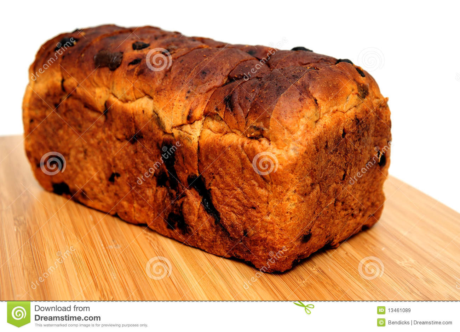 Raisin Cinnamon Bread Loaf Royalty Free Stock Images - Image: 13461089