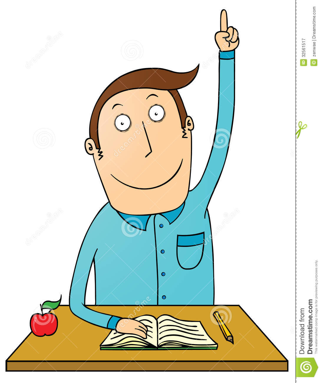 Raising Hand Student Royalty Free Stock Photography - Image: 32561517